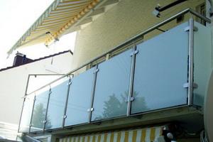 Glasverkleidung Balkon   Schlosserei Feistel Bilder Edelstahl